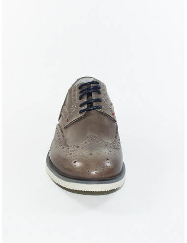 RB112 DERBY IN PELLE TAUPE...